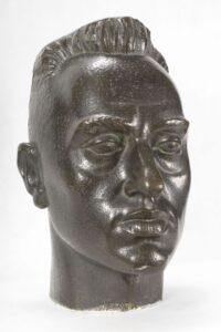Self-Portrait, A. Karny, 1930, bronze