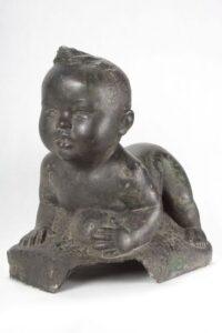 When I Was Thirteen Months Old, A. Karny, 1938, bronze