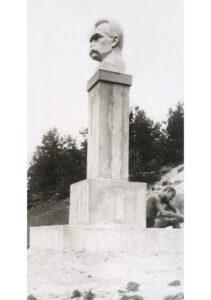 Portrait of Józef Piłsudski, A. Karny, 1928, plaster, patina