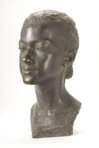 Portrait of the sibling Jola Korzybski, A. Karny, 1940-1941, bronze