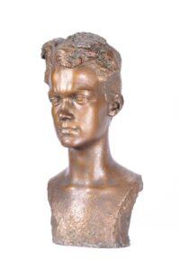Portrait of the sibling Dzidek Korzybski, A. Karny, 1940-1941, bronze