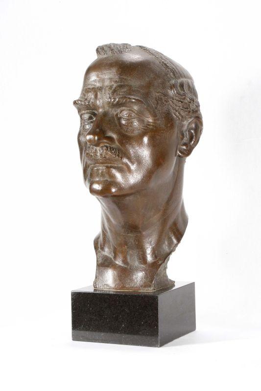Portrait of Prof. Jan Czochralski, A. Karny, 1944, bronze
